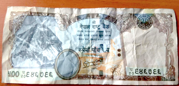 500 rupee note money