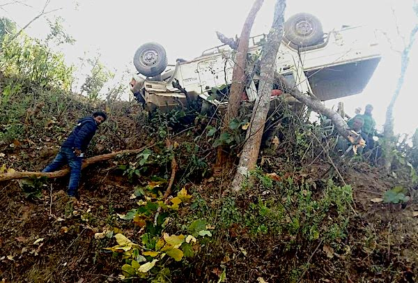 jeep crash in gulmi