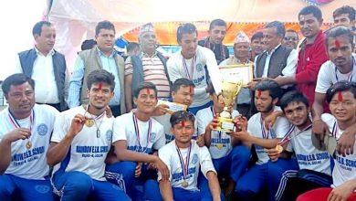 Photo of श्रीङ्गेश्वर क्रिकेट प्रतियोगिताको उपाधी बलेटक्सारको सुर्योदय युवा क्लबलाई, हुँगा दोश्रो