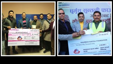 Photo of रास्कोट अस्पताल र क्रिकेट रङ्गशालाको  लागि फिन्ल्यान्डबाट १० लाख रुपैँया भन्दा  बढी सहयोग