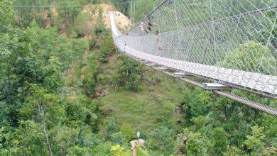 Photo of ३६ मिटर उचाइमा झोलुङ्गे पुल, सहज बन्दै स्थानीयको दैनिकी