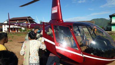 Photo of बागलुङको गल्कोट नगरपालिका ११ रिघामा सुत्केरीको हेलिकप्टर मार्फत उद्धार